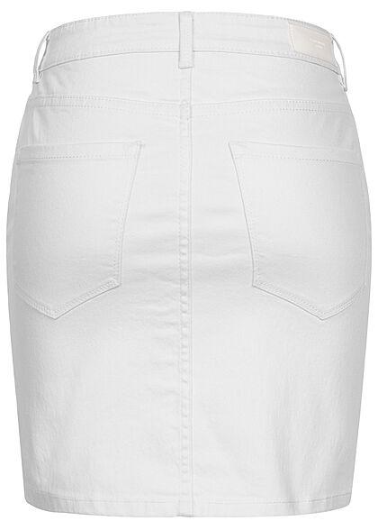 Vero Moda Damen NOOS Basic Mini Jeans Rock 5-Pockets bright weiss denim