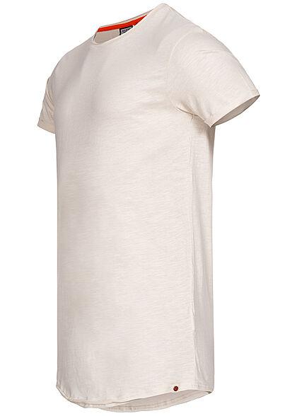 Eight2Nine Herren T-Shirt offene Nähte by Sky Rebel nude beige