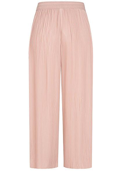 ONLY Damen Plissee Culotte Hose mit Strukturbund weiter Schnitt adobe rosa
