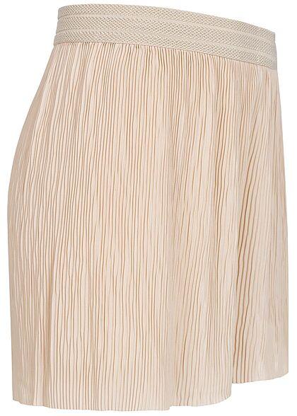ONLY Damen Plissee Shorts mit Strukturbund lockerer Schnitt pumice stone beige
