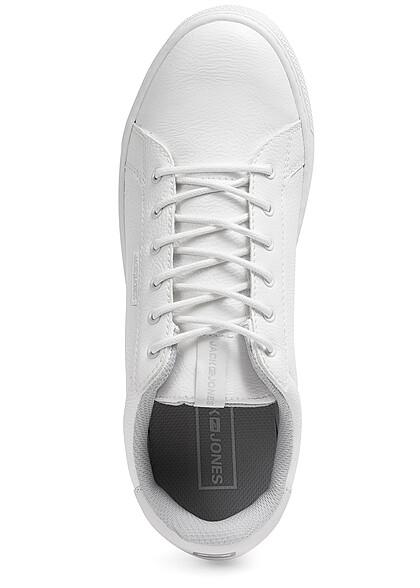 Jack and Jones Herren NOOS Schuh Unicolor Kunstleder Sneaker bright weiss