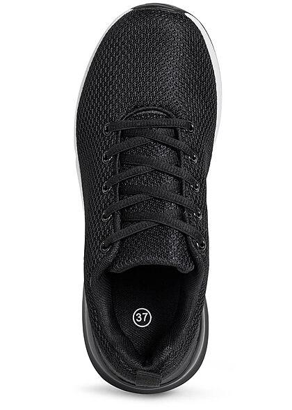 Seventyseven Lifestyle Damen Schuh Mesh Sneaker unicolor schwarz