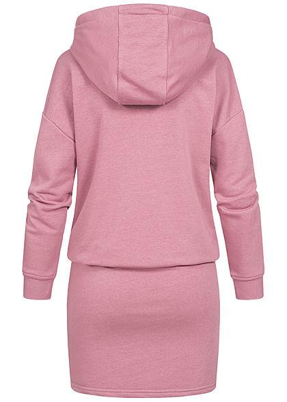 Seventyseven Lifestyle Damen Hoodie Sweat Pullover Kleid Kapuze mesa rosa