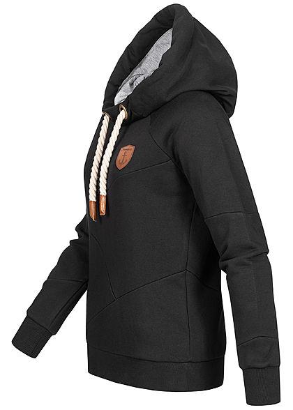 Seventyseven Lifestyle Damen Segment Hoodie mit Kapuze schwarz