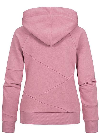 Seventyseven Lifestyle Damen Segment Hoodie mit Kapuze mesa rosa