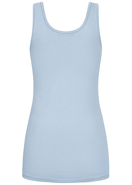 Seventyseven Lifestyle Damen Basic Tank Top fog blau