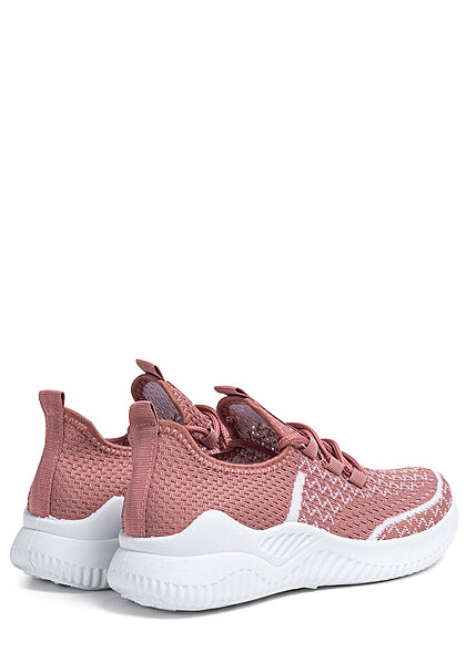 Seventyseven Lifestyle Damen Schuh 2-Tone Running Mesh Sneaker dunkel pink weiss
