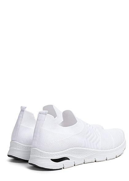 Seventyseven Lifestyle Damen Schuh Running Mesh Sneaker ohne Schnürsenkel weiss