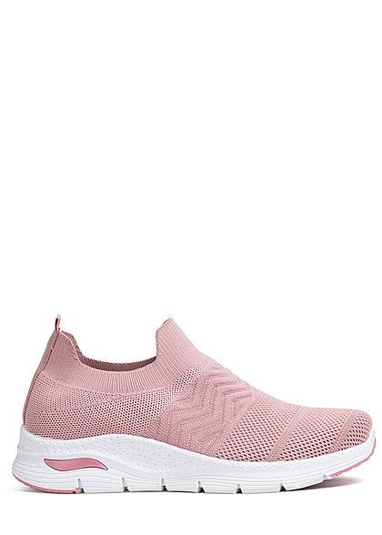 Seventyseven Lifestyle Damen Schuh Running Mesh Sneaker ohne Schnürsenkel old rose