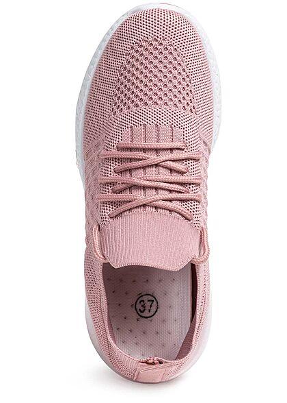 Seventyseven Lifestyle Damen Schuh Running Mesh Sneaker Struktursohle old rose