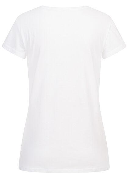 Hailys Damen Disney T-Shirt Bambi Frontprint weiss