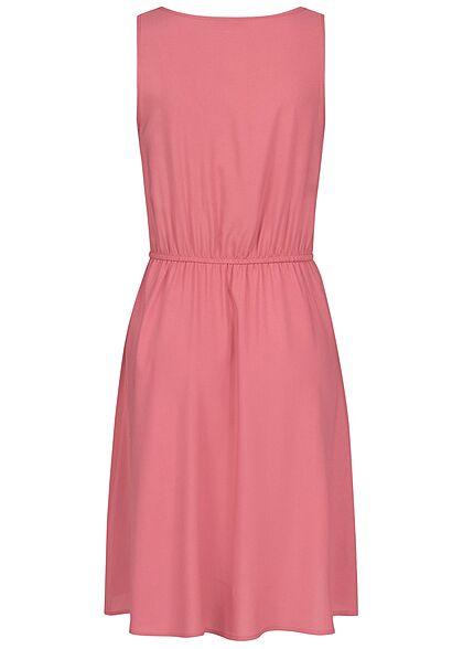 ONLY Damen Viskose Mini Kleid Taillengummibund baroque rosa