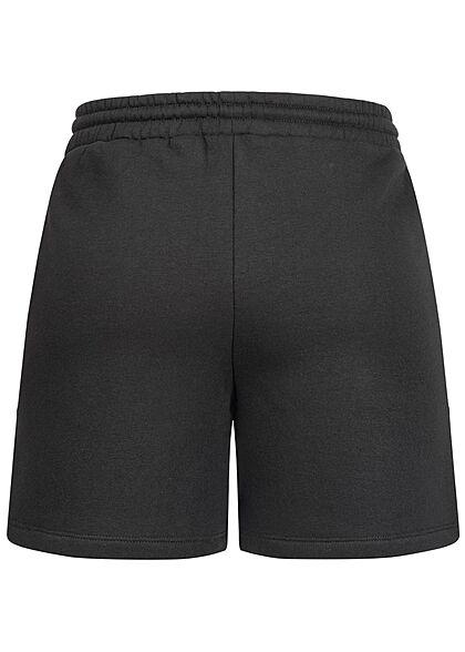 Vero Moda Damen Sweat Shorts Tunnelzug 2-Pockets schwarz