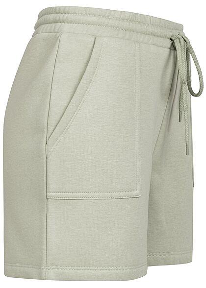 Vero Moda Damen Sweat Shorts Tunnelzug 2-Pockets desert sage grün