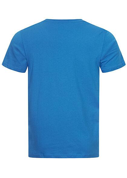 Tom Tailor Herren T-Shirt mit Logoprint ibiza blau