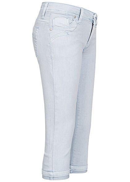 Hailys Kids Mädchen 3/4 Bermuda Jeans Shorts 5-Pockets hell blau denim