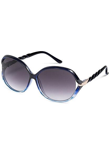 Seventyseven Lifestyle Damen Sonnenbrille UV-Schutz 400 Flechtbügel blau