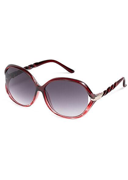 Seventyseven Lifestyle Damen Sonnenbrille UV-Schutz 400 Flechtbügel rot