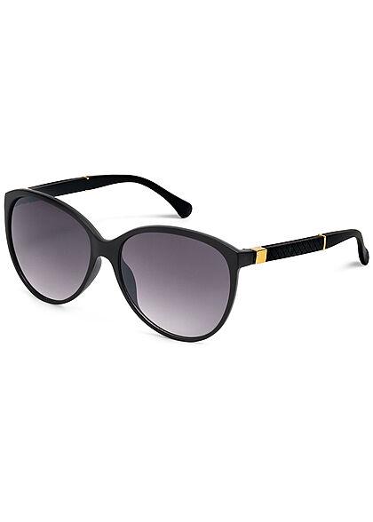 Seventyseven Lifestyle Damen Sonnenbrille UV-Schutz 400 Strukturbügel schwarz
