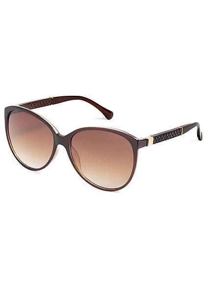 Seventyseven Lifestyle Damen Sonnenbrille UV-Schutz 400 Strukturbügel braun