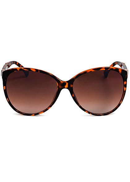 Seventyseven Lifestyle Damen Sonnenbrille UV-Schutz 400 Strukturbügel camo braun