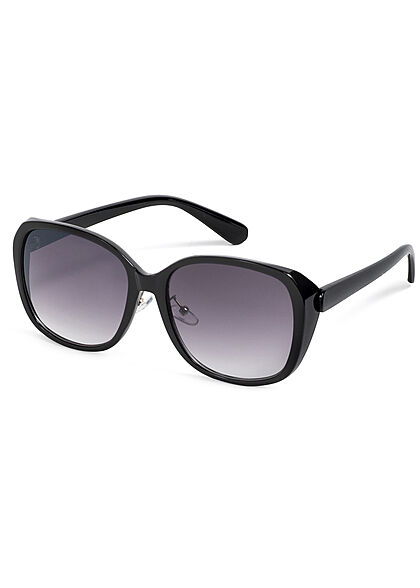 Seventyseven Lifestyle Damen Sonnenbrille UV-Schutz 400 Eckiges Design schwarz