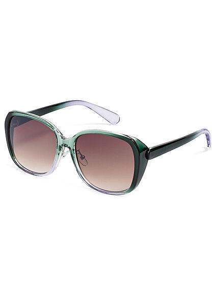 Seventyseven Lifestyle Damen Sonnenbrille UV-Schutz 400 Eckiges Design grün