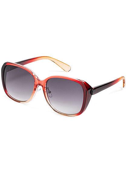 Seventyseven Lifestyle Damen Sonnenbrille UV-Schutz 400 Eckiges Design rot