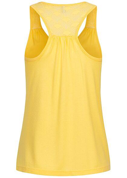 ONLY Damen Viskose Top Spitzendetail hinten sunshine gelb