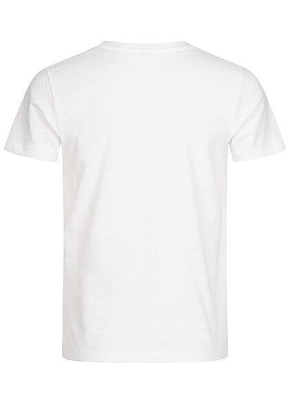 Name It Kids Jungen T-Shirt Great Waves Print bright weiss