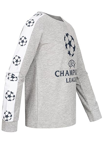 Name It Kids Jungen Longsleeve Champions League Print grau melange