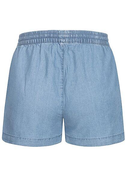 ONLY Damen NOOS Lyocell Denim Shorts Tunnelzug 2-Pockets medium blau denim