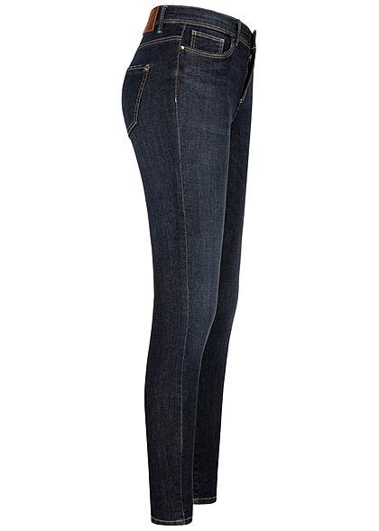 ONLY Damen NOOS Skinny Jeans Hose Mid-Waist 5-Pockets dunkel blau denim