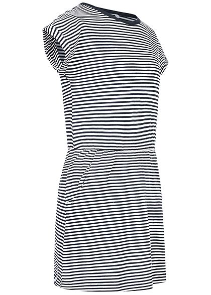 Name It Kids Mädchen Sommer Kleid Taillengummibund Streifen Muster sapphir blau