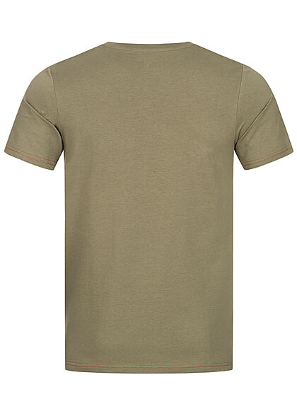 Jack and Jones Herren T-Shirt Slim Fit Logo Print deep lichen grün