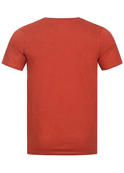 Jack and Jones Herren T-Shirt Slim Fit Logo Print ochre rot