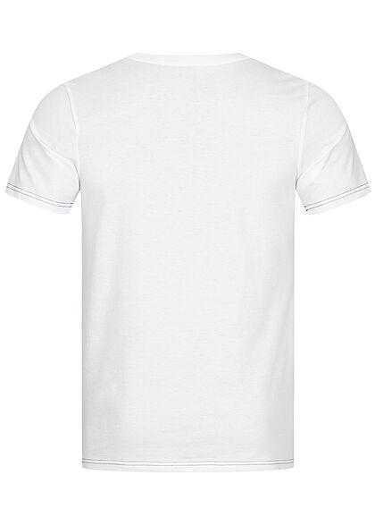 Jack and Jones Herren T-Shirt Slim Fit Logo Print weiss