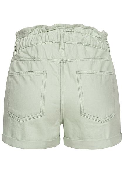 ONLY Damen Paperbag Shorts Knopfleiste 5-Pockets sury spray grün