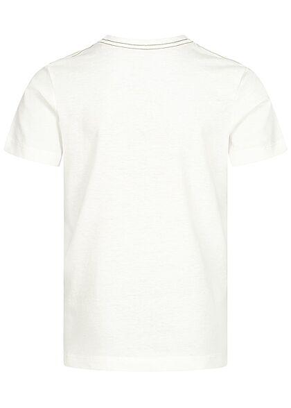 Jack and Jones Junior T-Shirt Originals Logo Print cloud dancer weiss
