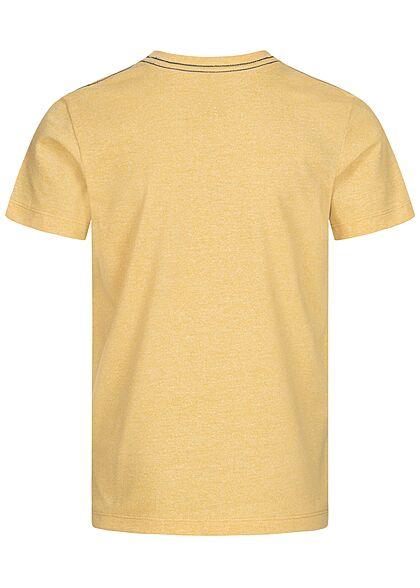 Jack and Jones Junior T-Shirt Originals Logo Print sahara sun beige gelb