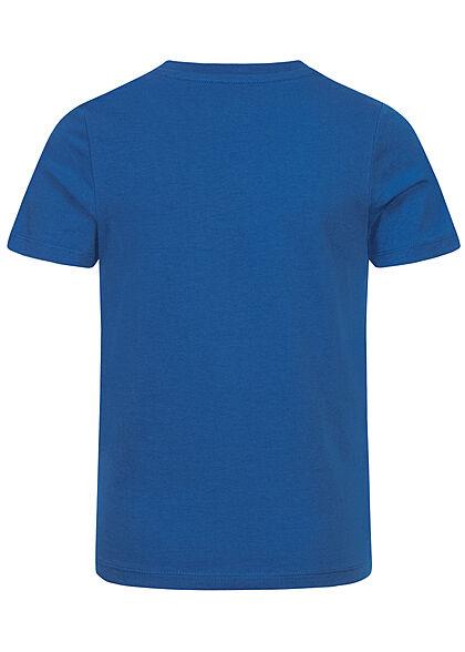 Jack and Jones Junior NOOS T-Shirt Colorblock Logo Print classic blau