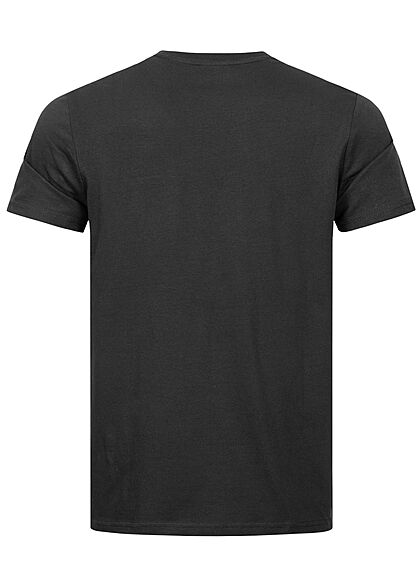 Champion Herren Melange T-Shirt Comfort Fit Logo Patch schwarz