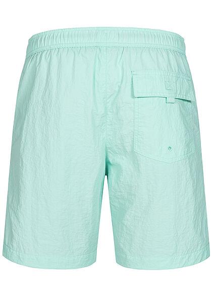 Champion Herren Badehose Shorts 3-Pockets Tunnelzug Logo Print türkis grün schwarz