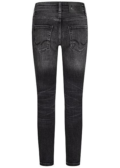 Jack and Jones Junior NOOS Skinny Fit Jeans Hose 5-Pockets schwarz denim