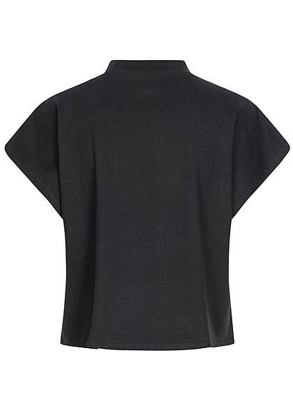 Urban Classics Damen 2er Pack Cropped T-Shirt Streifen Muster schwarz weiss & schwarz
