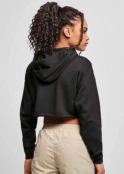 Urban Classics Damen Oversized Cropped Hoodie schwarz