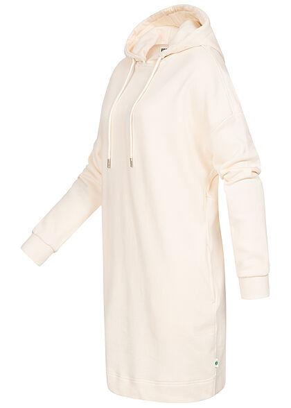 Urban Classics Damen Hoodie Sweat Pullover Kleid Kapuze whitesand weiss