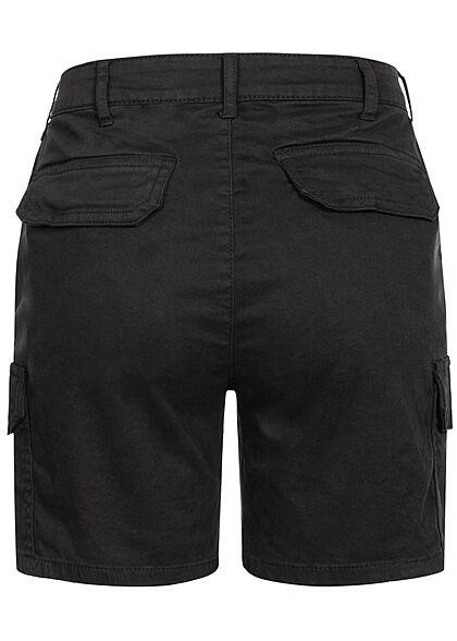Urban Classics Damen High-Waist Cargo Shorts 6-Pockets schwarz