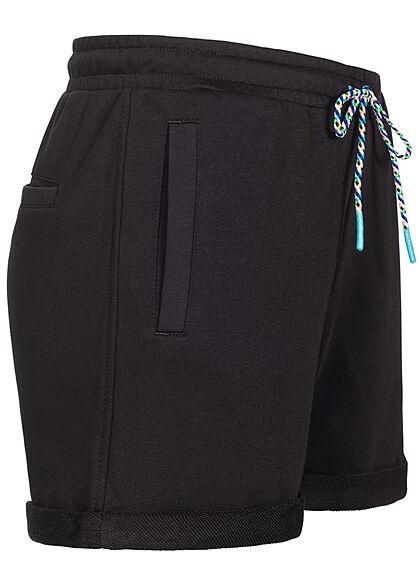 Urban Classics Damen kurze Sweat Shorts Tunnelzug 3-Pockets schwarz