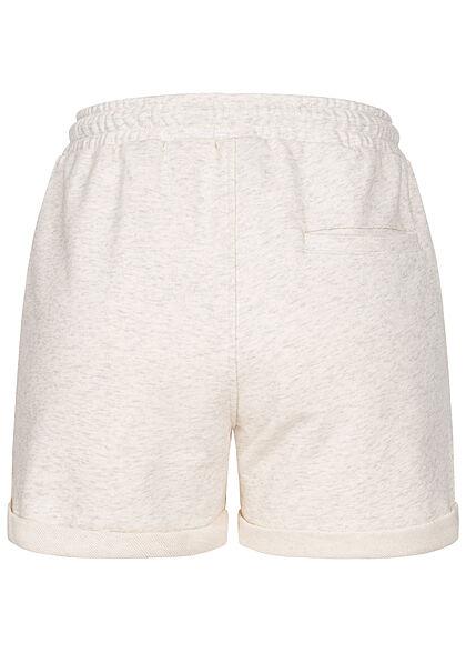 Urban Classics Damen kurze Sweat Shorts Tunnelzug 3-Pockets hell grau
